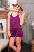 Load image into Gallery viewer, THE POOLSIDE KNIT ROMPER-DEEP PURPLE - Infinity Raine