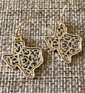 TEXAS FILIGREE EARRINGS-SILVER AND GOLD - Infinity Raine