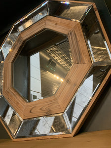CAN'T GET ENOUGH WOODEN OCTAGON WALL MIRROR - Infinity Raine
