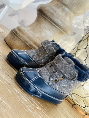 THE ADVENTURE AWAITS FUR LINED SNOW BOOTS-NAVY - Infinity Raine