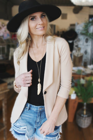Get What You Need Blazer-Taupe - Infinity Raine