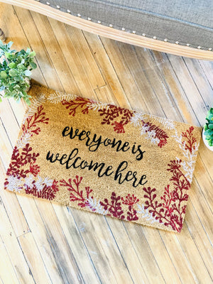 Everyone Is Welcome Here Doormat - Infinity Raine