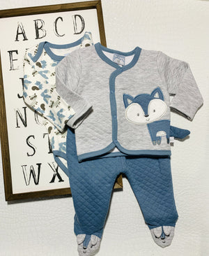 SNEAKY FOXES 3PC BABY SET - Infinity Raine