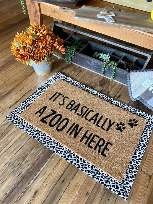 IT'S BASICALLY A ZOO IN HERE DOORMAT - Infinity Raine