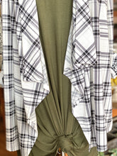 Load image into Gallery viewer, ENDLESS POSSIBILITIES WATERFALL CARDIGAN-PLAID - Infinity Raine