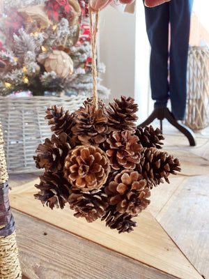 PINECONE BALL ORNAMENT - Infinity Raine