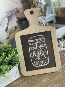 LET YOUR LIGHT SHINE KITCHEN WALL DECOR - Infinity Raine