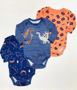TINY DINO 3PC BABY ONESIES - Infinity Raine