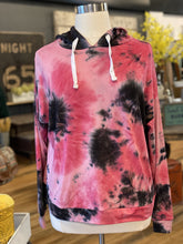 Load image into Gallery viewer, ORANGE KISSES PLUS SIZE TIE DYE HODDIE-PINK/CHARCOAL - Infinity Raine