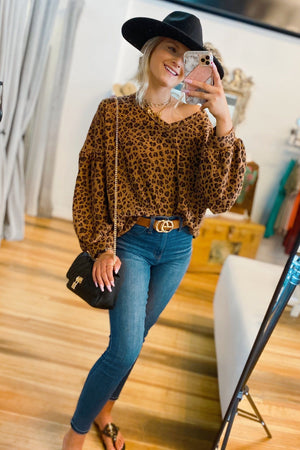 SEE ME COMING LEOPARD PRINT TUNIC - Infinity Raine