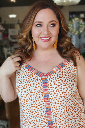 Just So Sweet Plus Size Maxi Dress-Cream/Camel - Infinity Raine