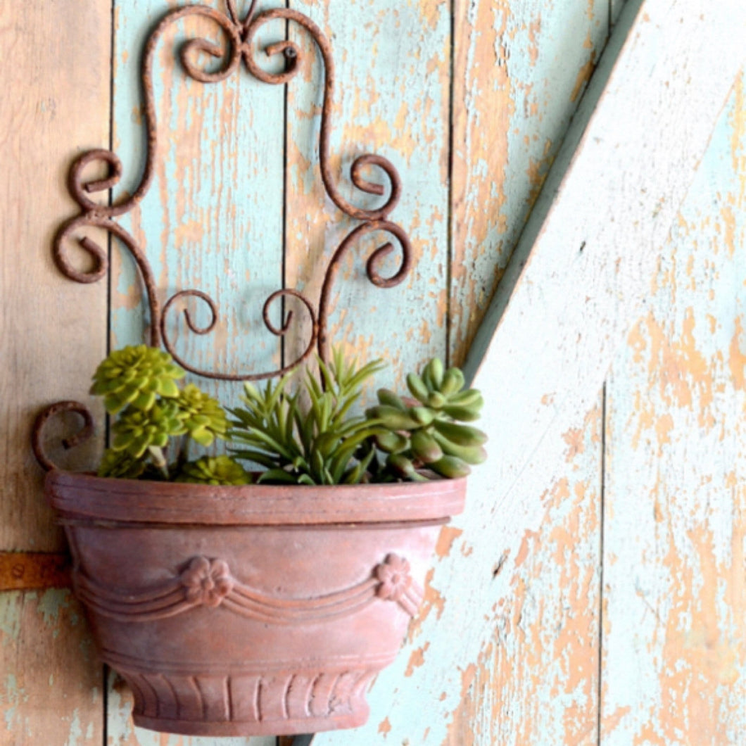 SCROLLED WALL PLANTER - Infinity Raine