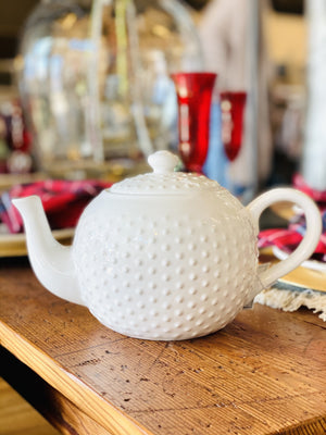 MAISON PANTRY COLLECTION TEA POT-WHITE - Infinity Raine