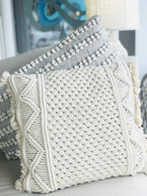 Load image into Gallery viewer, WEAVING MY WAY THROUGH WOVEN THROW PILLOW- BEIGE - Infinity Raine