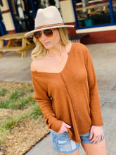 Load image into Gallery viewer, CASUAL FRIDAY WAFFLE KNIT TOP-CAMEL - Infinity Raine