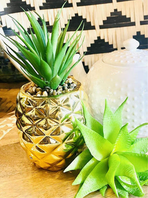 """PINEAPPLE SUCCULENT"" AROMA DIFFUSER-GOLD/ SILVER - Infinity Raine"