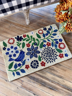 FLORAL GREETINGS DOORMAT - Infinity Raine