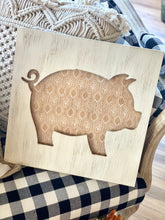 Load image into Gallery viewer, VINTAGE PIGGY CUTOUT WOODEN WALL DECOR - Infinity Raine