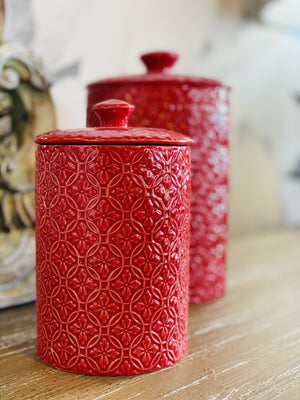 PICTURE PERFECT RED CANISTER-SMALL - Infinity Raine