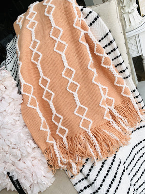 Bring Warmth Throw Blanket-Peach - Infinity Raine
