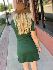 LOVE IS IN THE AIR SKATER DRESS- GREEN - Infinity Raine