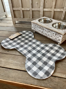 WAGGING TAILS PET PLACEMAT- GINGHAM - Infinity Raine