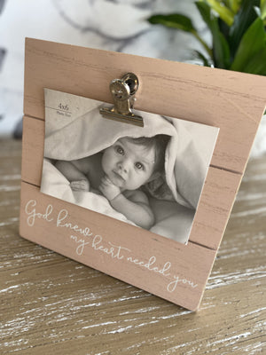 MY HEART BABY PHOTO FRAME-PINK - Infinity Raine