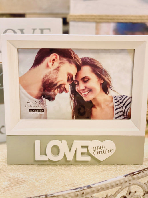 LOVE YOU MORE STAND ALONE BOX PICTURE FRAME - Infinity Raine