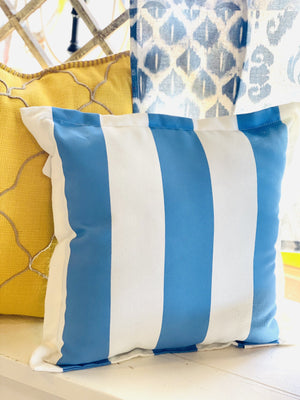 Take Me Down To The Beach House Pillow-Blue - Infinity Raine