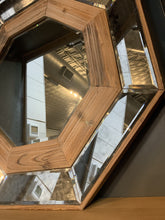 Load image into Gallery viewer, CAN'T GET ENOUGH WOODEN OCTAGON WALL MIRROR - Infinity Raine