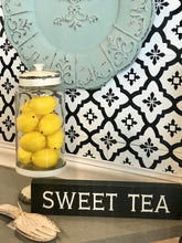 Load image into Gallery viewer, SOUTHERN FAVORITE SWEET TEA DISTRESSED BOX SIGN - Infinity Raine