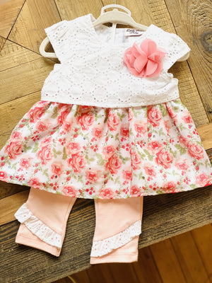 MY SUNDAY BEST 12 MONTH DRESS- PINK FLORAL - Infinity Raine