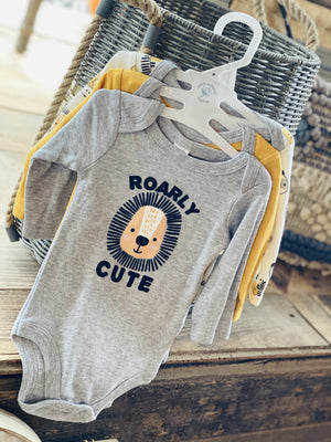 ROARLY CUTE 3PC BABY ONESIES-SAFARI - Infinity Raine