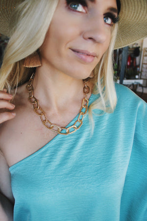 Stunning Ways Chain Link Necklace-Gold - Infinity Raine