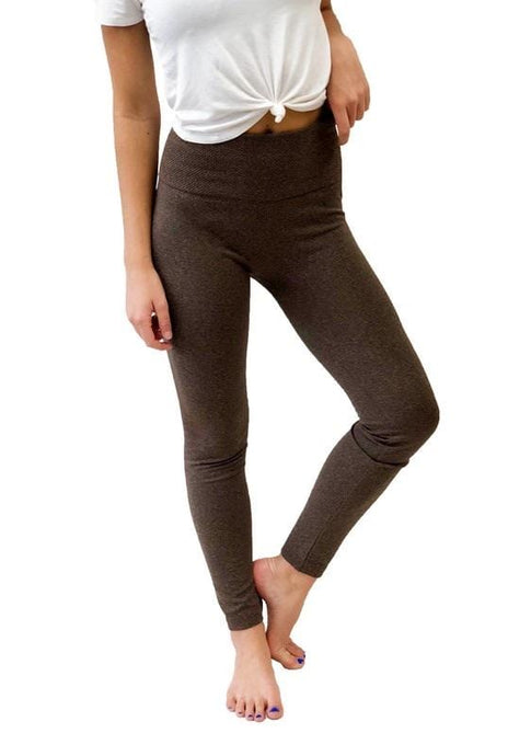 ON THE GO LEGGINGS-SPACE DYE BROWN - Infinity Raine