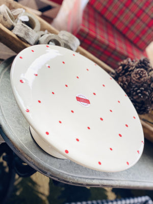 ON POINT RED POLKA DOT CAKE STAND - Infinity Raine