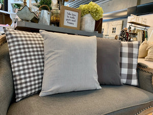 GREY/ WHITE PILLOW COVERS-SQUARE - Infinity Raine