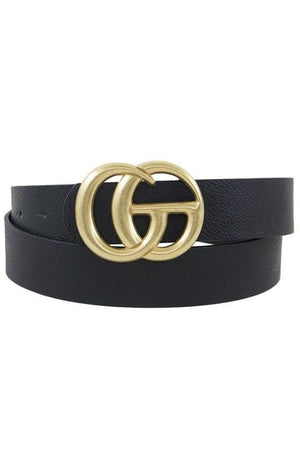 On The Run Classic Faux Leather Belt-Black - Infinity Raine
