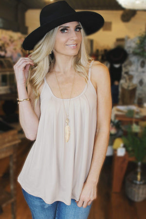 The Rundown Tank Top-Taupe - Infinity Raine