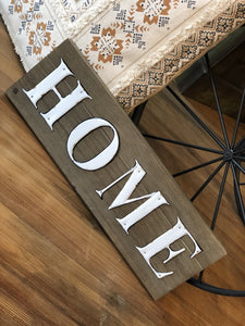 HOME WOODEN AND METAL TIN SIGN - Infinity Raine