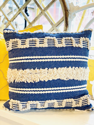 Such A Fool For Her Boho Pillow-Navy - Infinity Raine