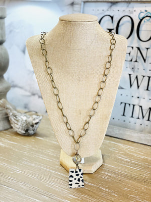 ALL UP TO YOU CHAIN NECKLACE-BRONZE - Infinity Raine