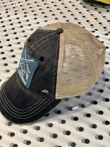 I'M YOUR HUCKLEBERRY DISTRESSED BASEBALL HAT- NAVY - Infinity Raine