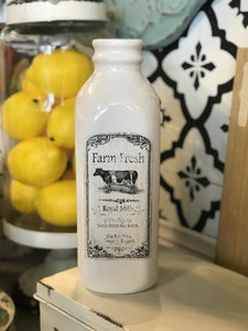 FRESH OFF THE FARM CERAMIC MILK BOTTLE VASE - Infinity Raine
