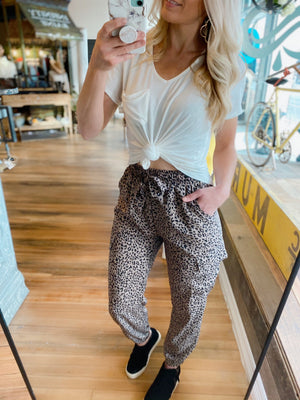 WISHING YOU THE BEST CHEETAH JOGGERS - Infinity Raine