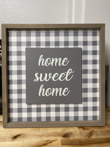 HOME SWEET HOME GINGHAM WALL DECOR - Infinity Raine