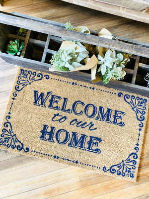 Welcome To Our Home Doormat - Infinity Raine