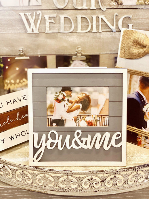 YOU & ME SLAT WOOD PICTURE FRAME - Infinity Raine