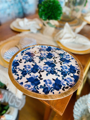 At Your Service Cake Stand-Royal Blue - Infinity Raine
