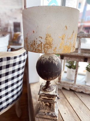 VINTAGE ALLURE BLACK SPHERE LAMP - Infinity Raine